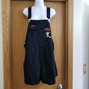 Looney Tunes Black Tweety Overalls Shorts 18W 20W